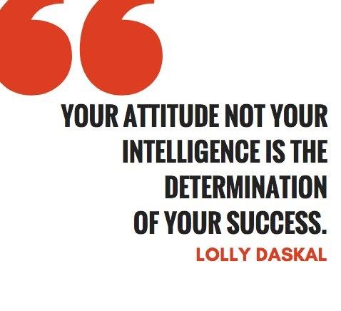Attitude not Intelligence