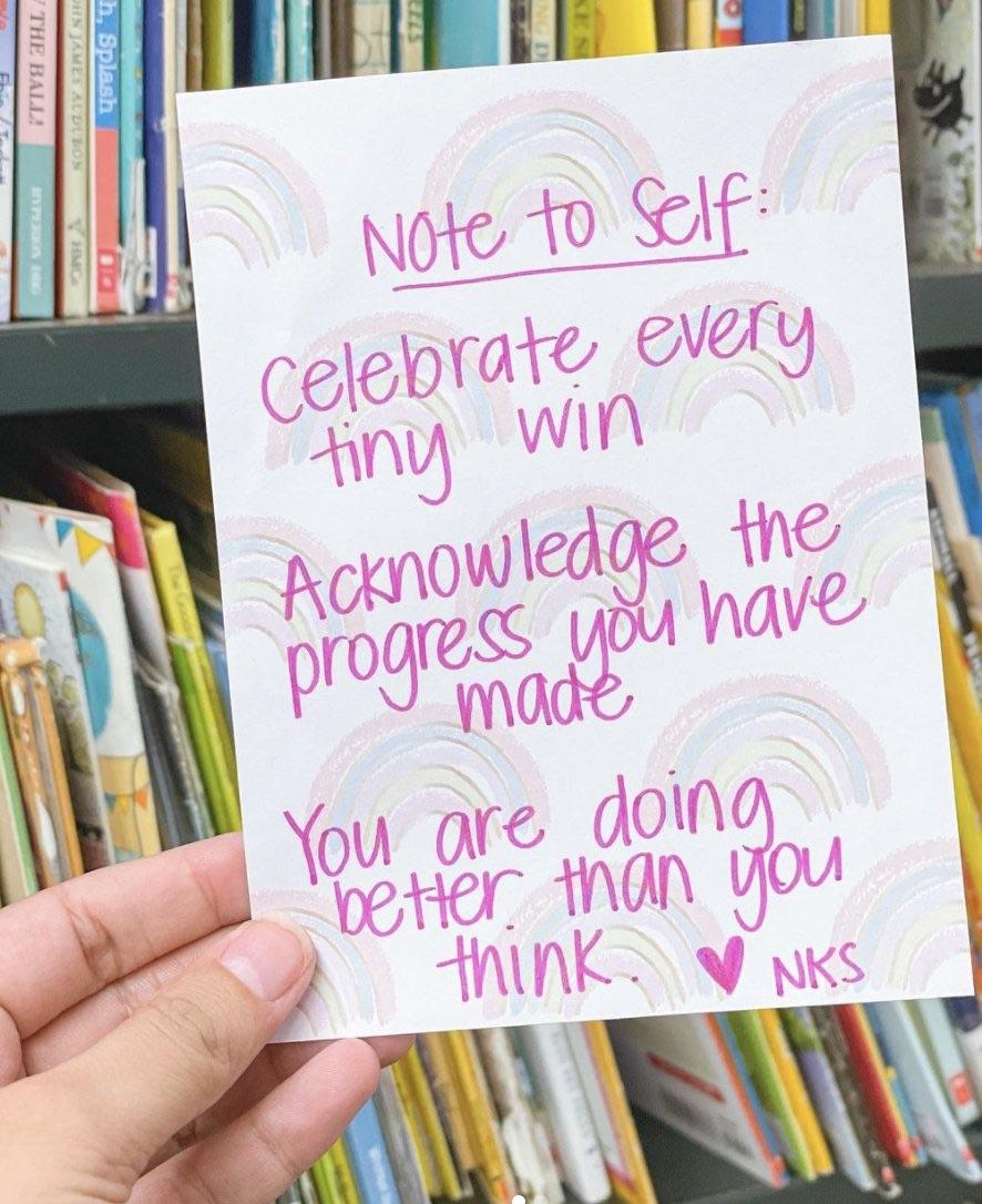 Celebrate every small win