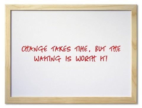 Change Takes Time