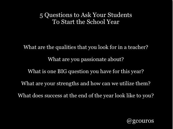 Couros Student Q's