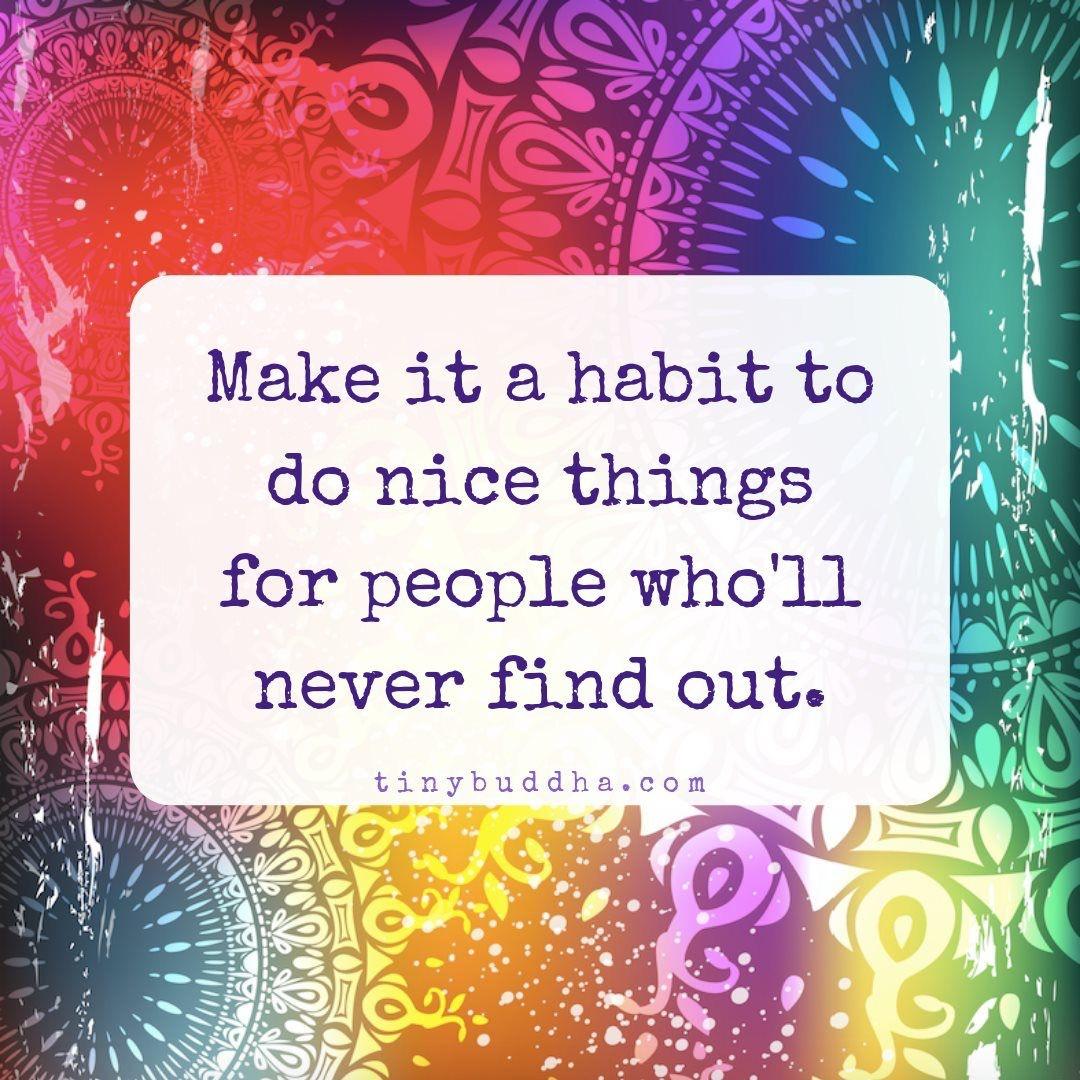 Do nice things