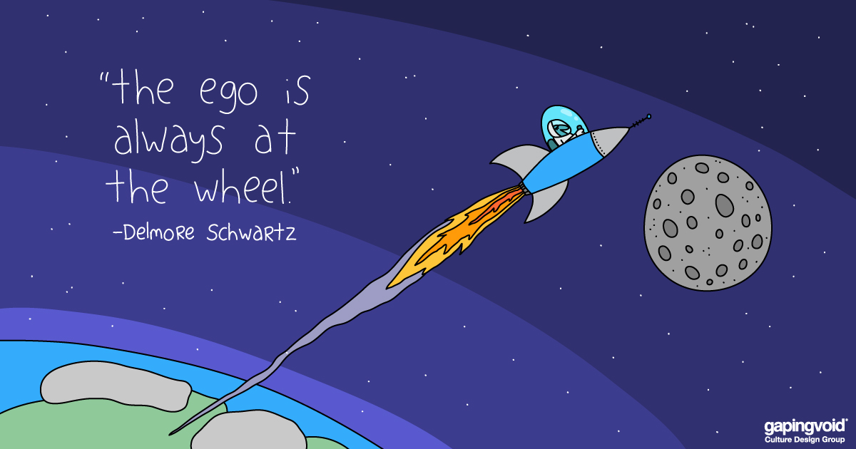 Ego at th wheel