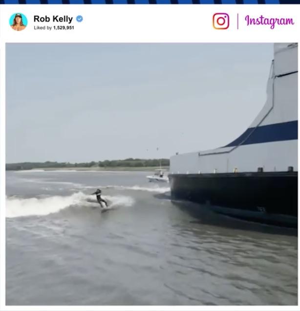 Ferry Surfing
