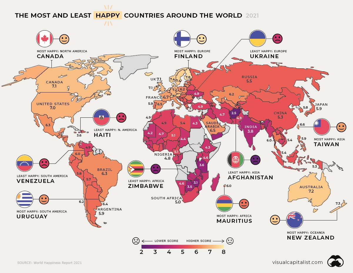 Happiness Mapped