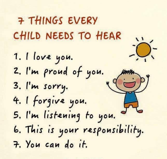 Kids need to hear
