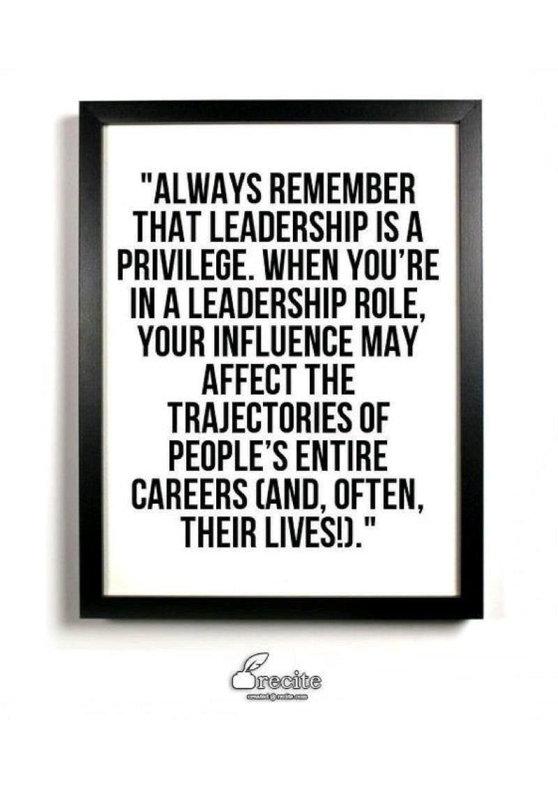 Leadership Priviledge