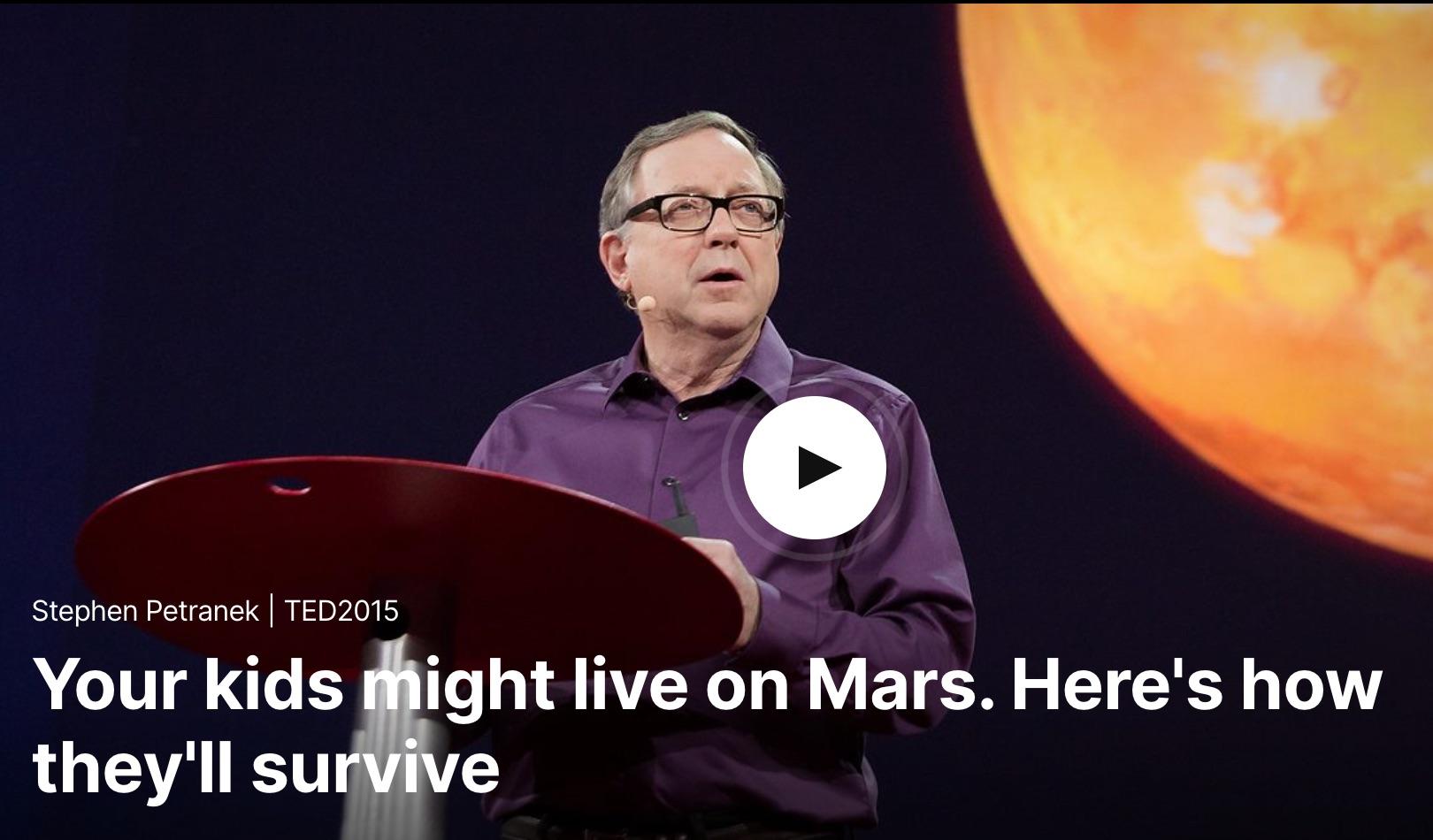 Your Kids on Mars