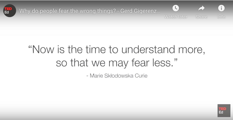 M Curie quote