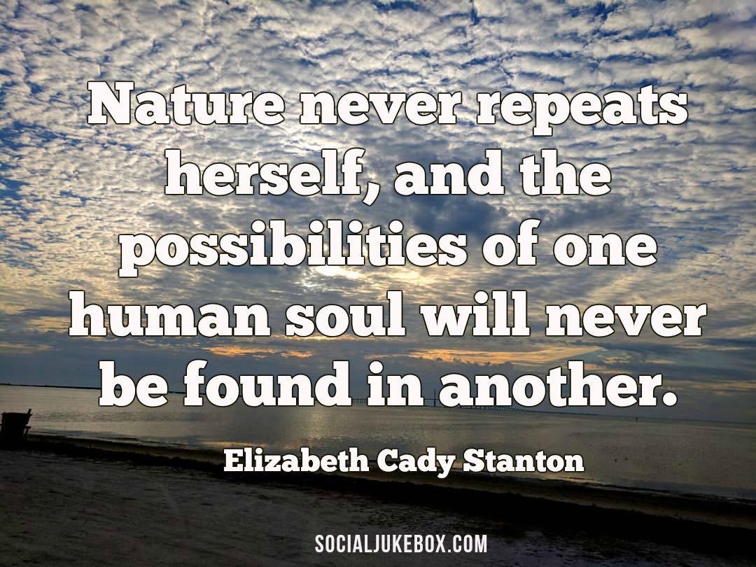Nature Never Repeats