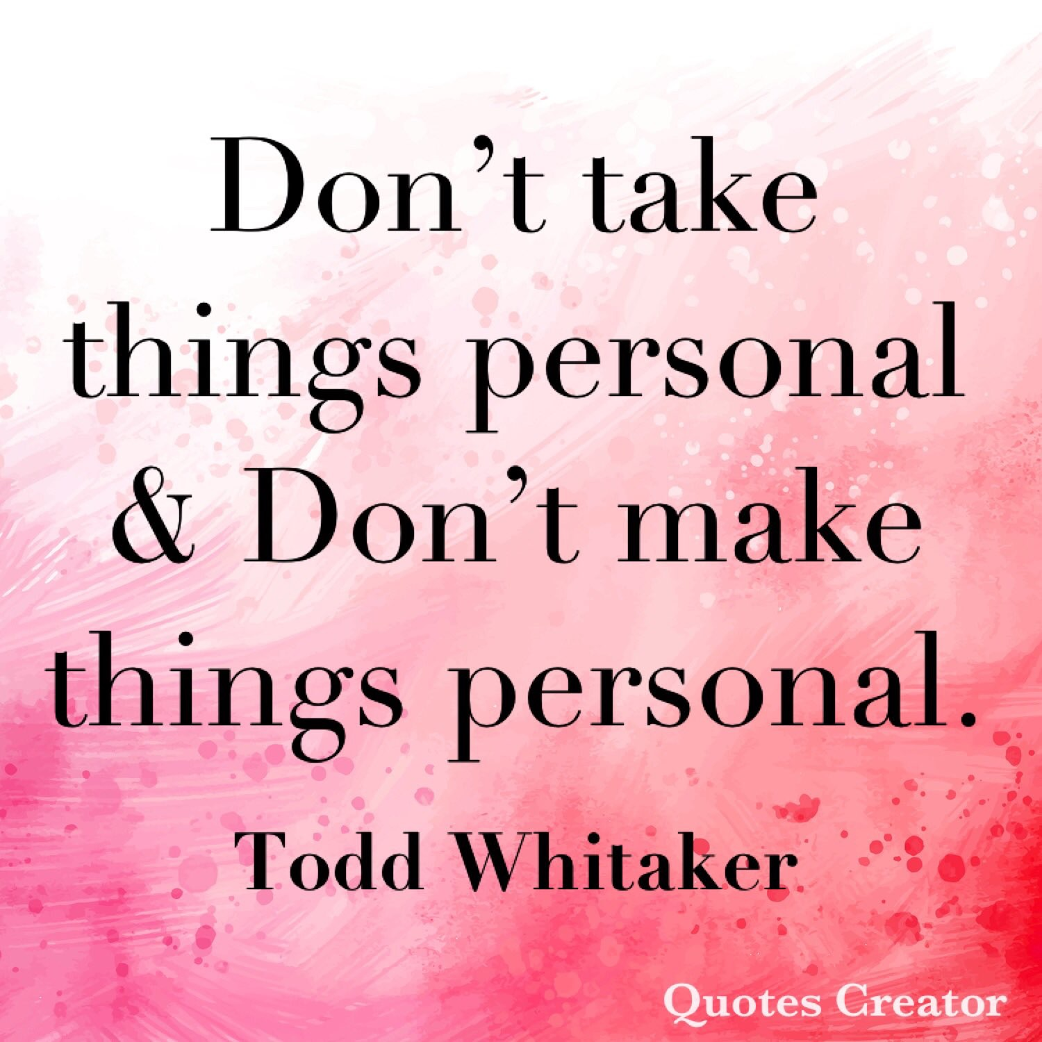 Personnal quote