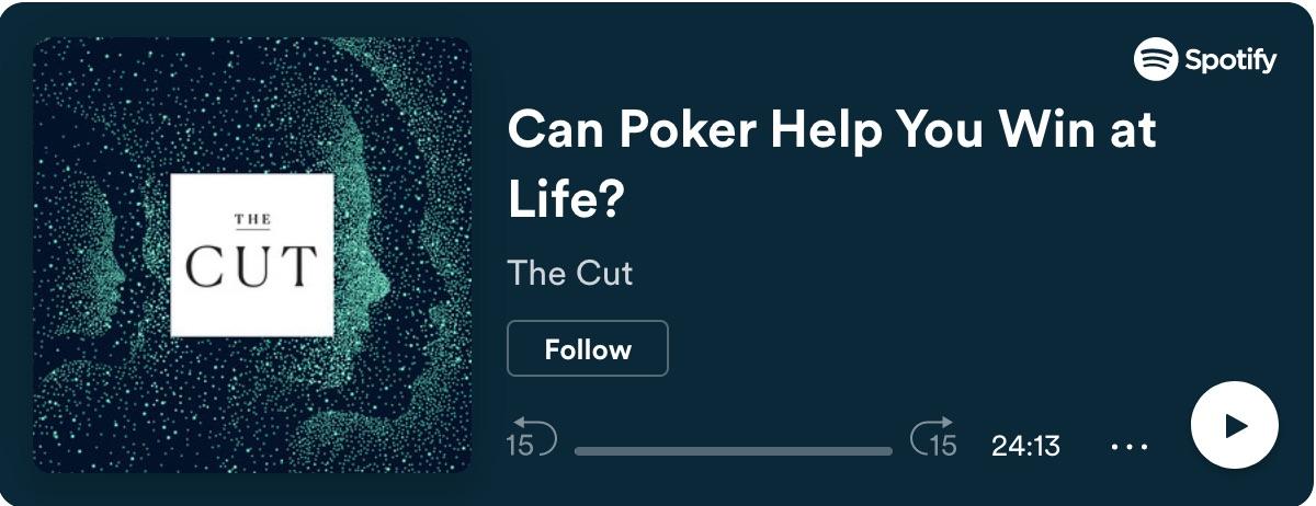 Poker and Life