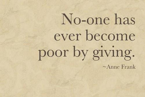Poor by Giving