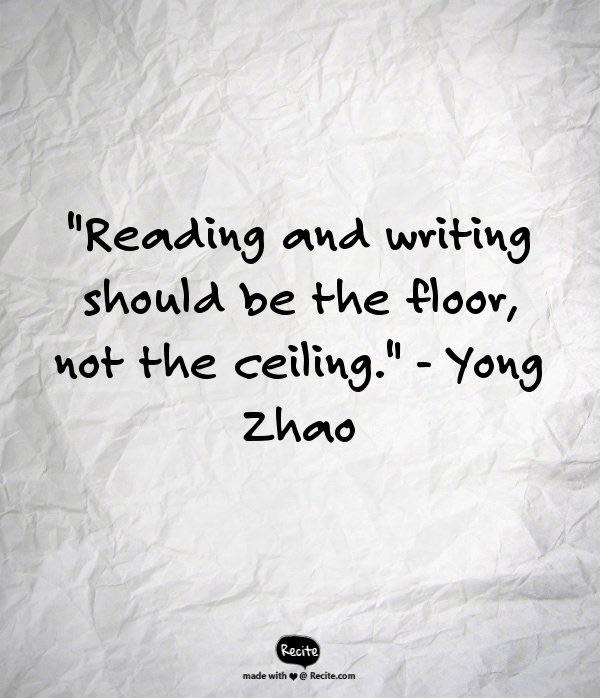Reading as floor