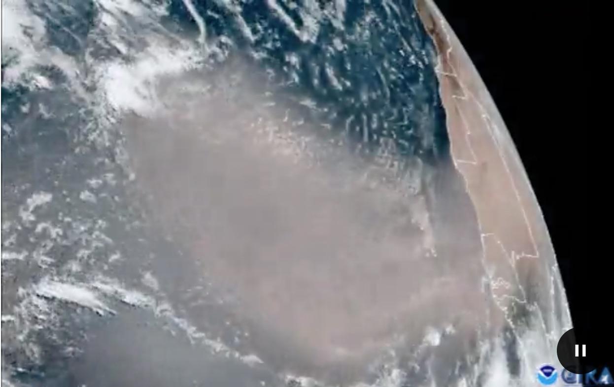 Saharah dust storm