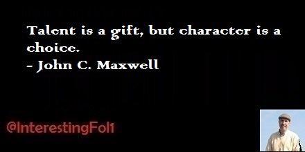 Talent v Character