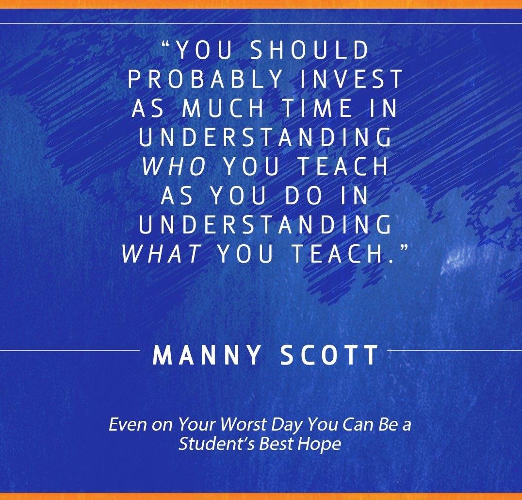Who You Teach