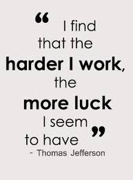 Work and luck
